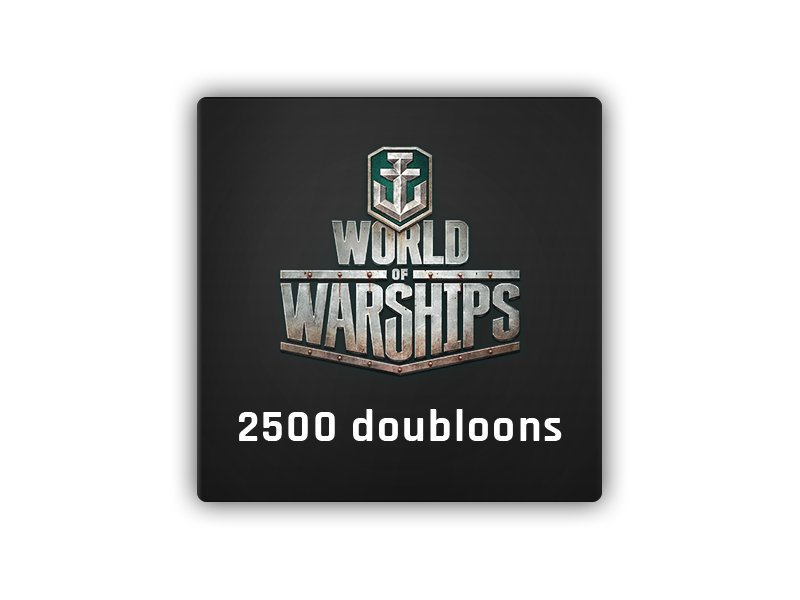2500 Doubloons World of Warships