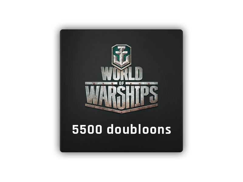 5500 Doubloons World of Warships