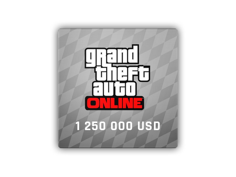 GTA Online: Great White Shark Cash Card 1 250 000 USD
