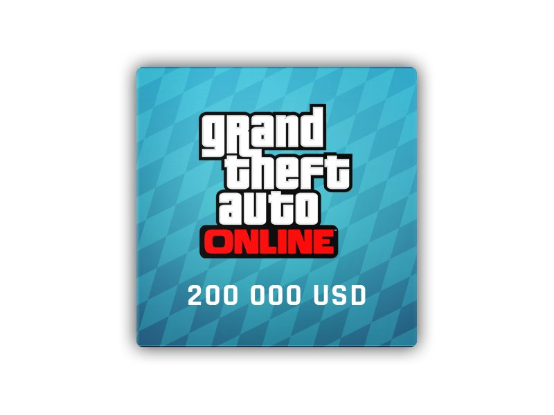 GTA ONLINE: TIGER SHARK CASH CARD 200 000 USD