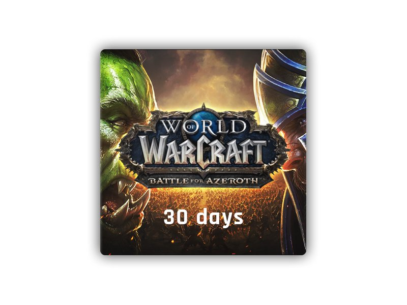 World of Warcraft Time Card 30 Days EU