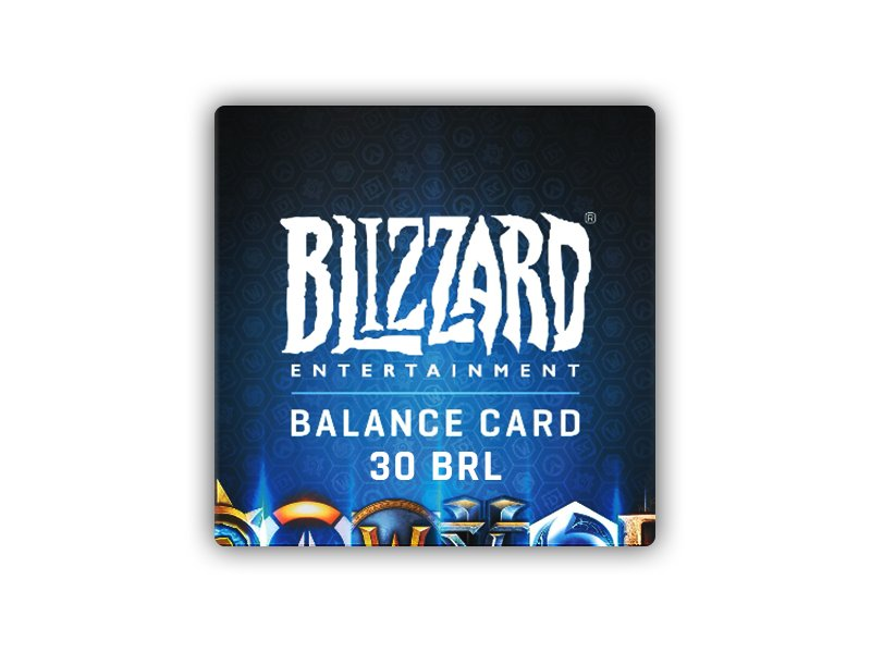 Blizzard GiftCard 30 BRL