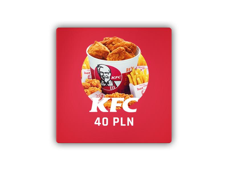KFC kupon rabatowy 40 PLN