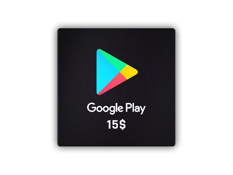 Google Play Gift Card NORTH AMERICA 15 USD