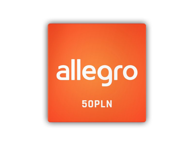 Allegro - karta podarunkowa 50 PLN