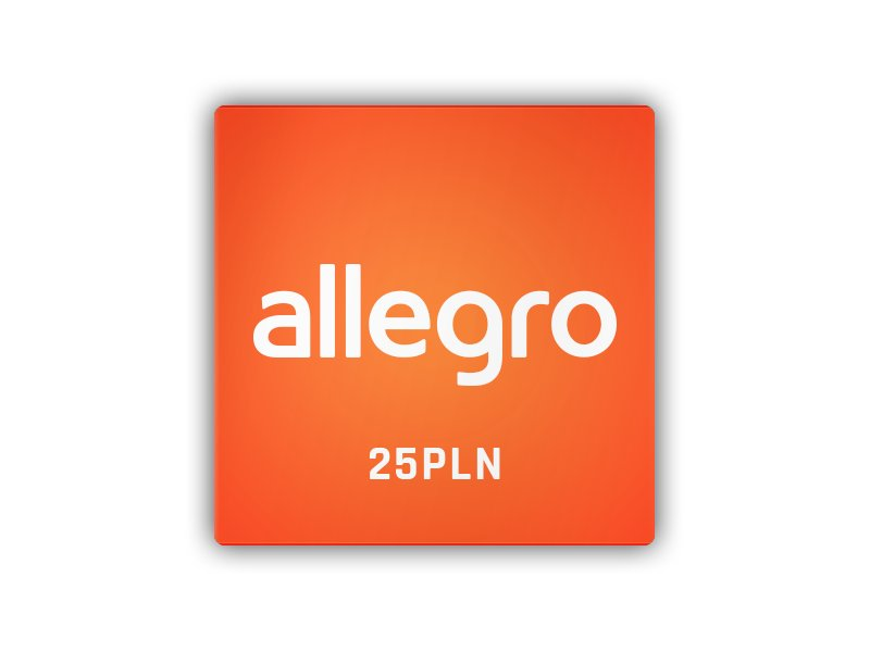 Allegro - karta podarunkowa 25 PLN