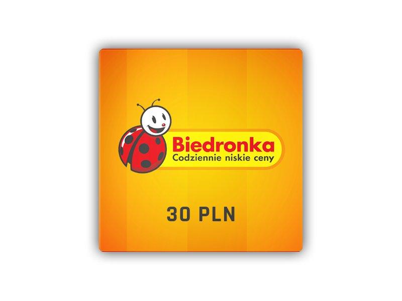 Biedronka - karta podarunkowa 30 PLN