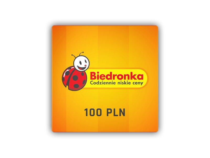 Biedronka - karta podarunkowa 100 PLN