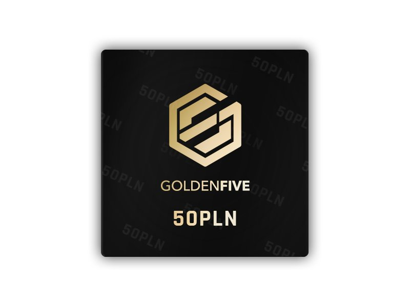 GoldenFive - Gift Card 50 PLN