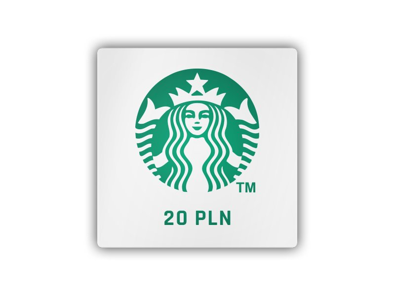 Starbucks 20 PLN - gift card