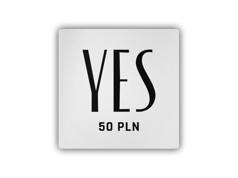 YES - Gift Card 50 PLN